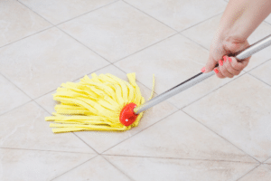clean tile floor